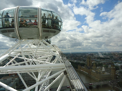 Just on top of the London Eye