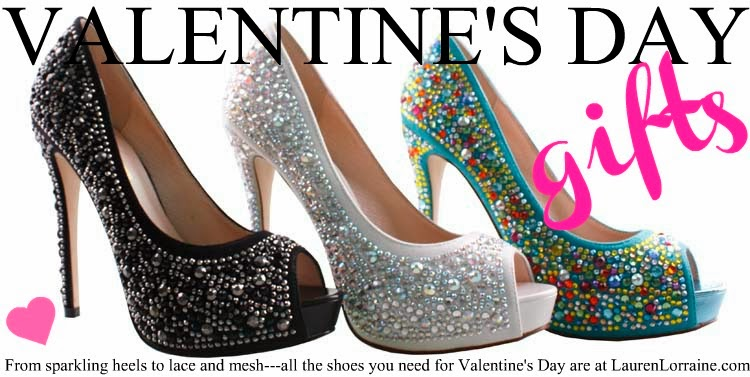 lauren lorraine shoes, valentine's day ad