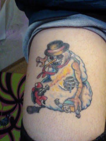 Kelli Kupkakes Custom Art and TattoosEvil Snowman Tattoo