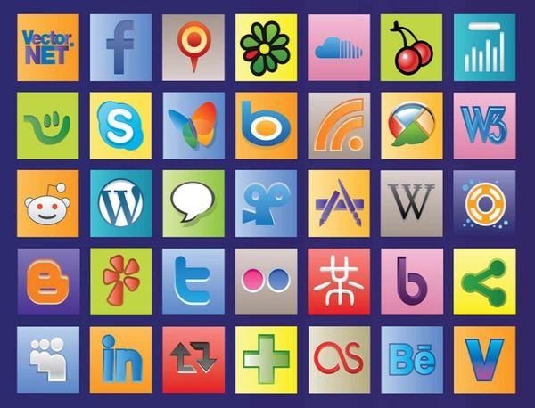 Free Social Web Vectors Icons