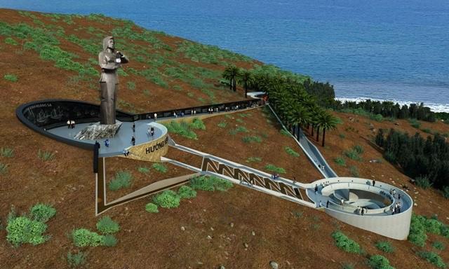 """Phác thảo Khu tượng đài """"Nghĩa sĩ Hoàng Sa"""" tại đảo Lý Sơn, tỉnh Quảng Ngãi."""