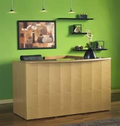 Luminary Wood Reception Desk by Mayline