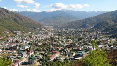 Thimphu City in Bhutan