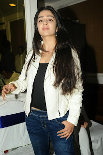 Actress Charmi Kaur Pictures in Jeans at One by Two Movie Celetes 20 Years Event 0087