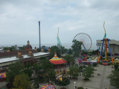 aerial view of cedar point, park view, ohio