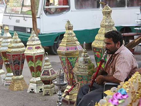selling Ramadan lanterns ahead
