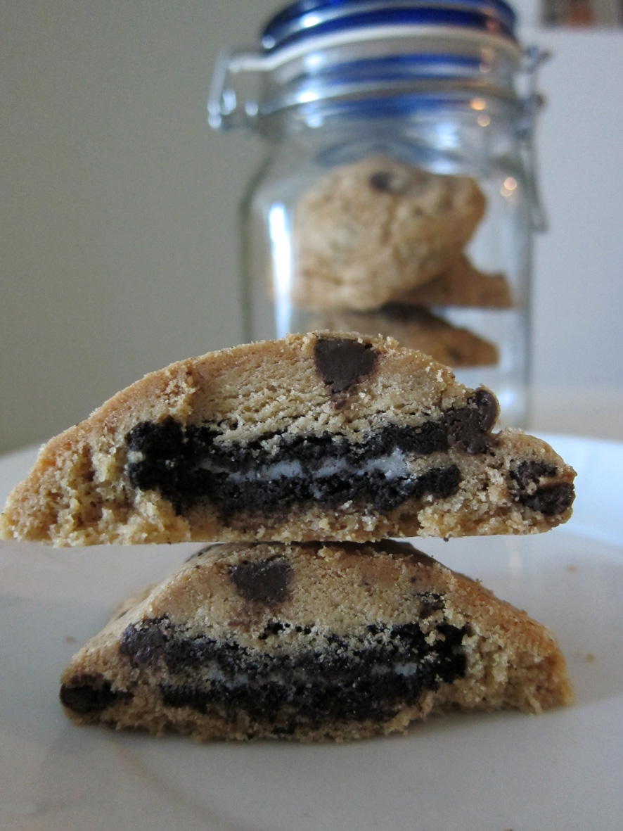 ... chip cookies stuffed with even more cookie stuffed with an oreo cookie