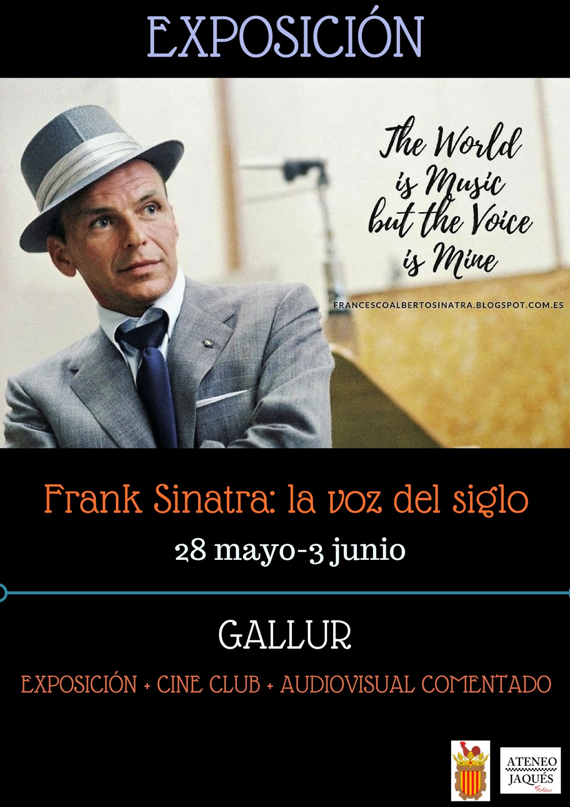 """EXPOSICIÓN: """"Frank Sinatra, la voz del siglo"""" en GALLUR"""