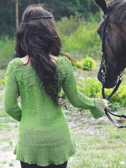 wzor bluzki na drutach