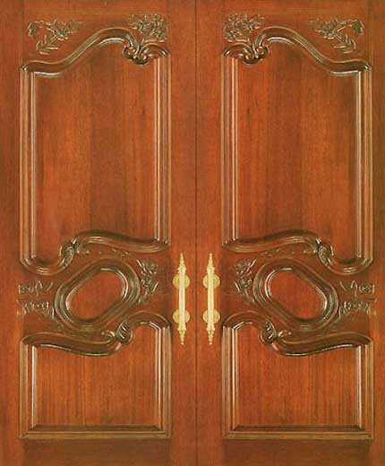 Double Wood Front Door
