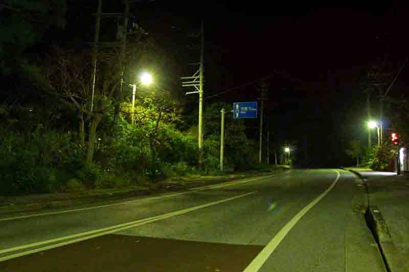 HWY 71, night,streetlamps