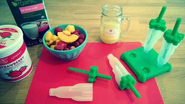 Homemade fruit popsicles