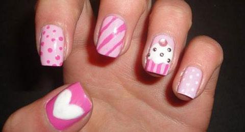 diseño uñas cupcakes