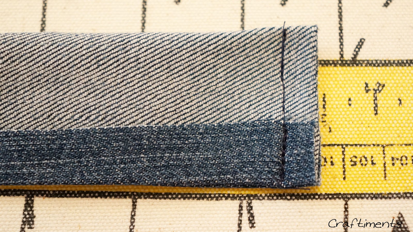 Fold in half and stitch ends
