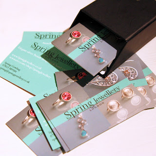 Spring Jewellery business cards