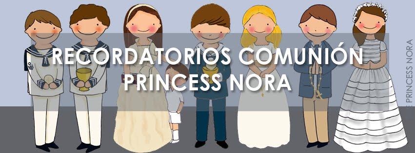 Recordatorios Comunión Princess Nora