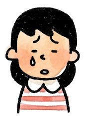 女の子の表情のイラスト(泣き)
