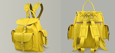 Grafea popcorn backpack yellow, blue, red