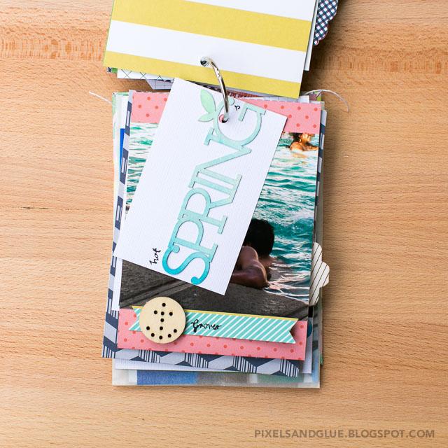 Travel Mini Album by @pixnglue using Studio Calico Office Hours scrapbook kit
