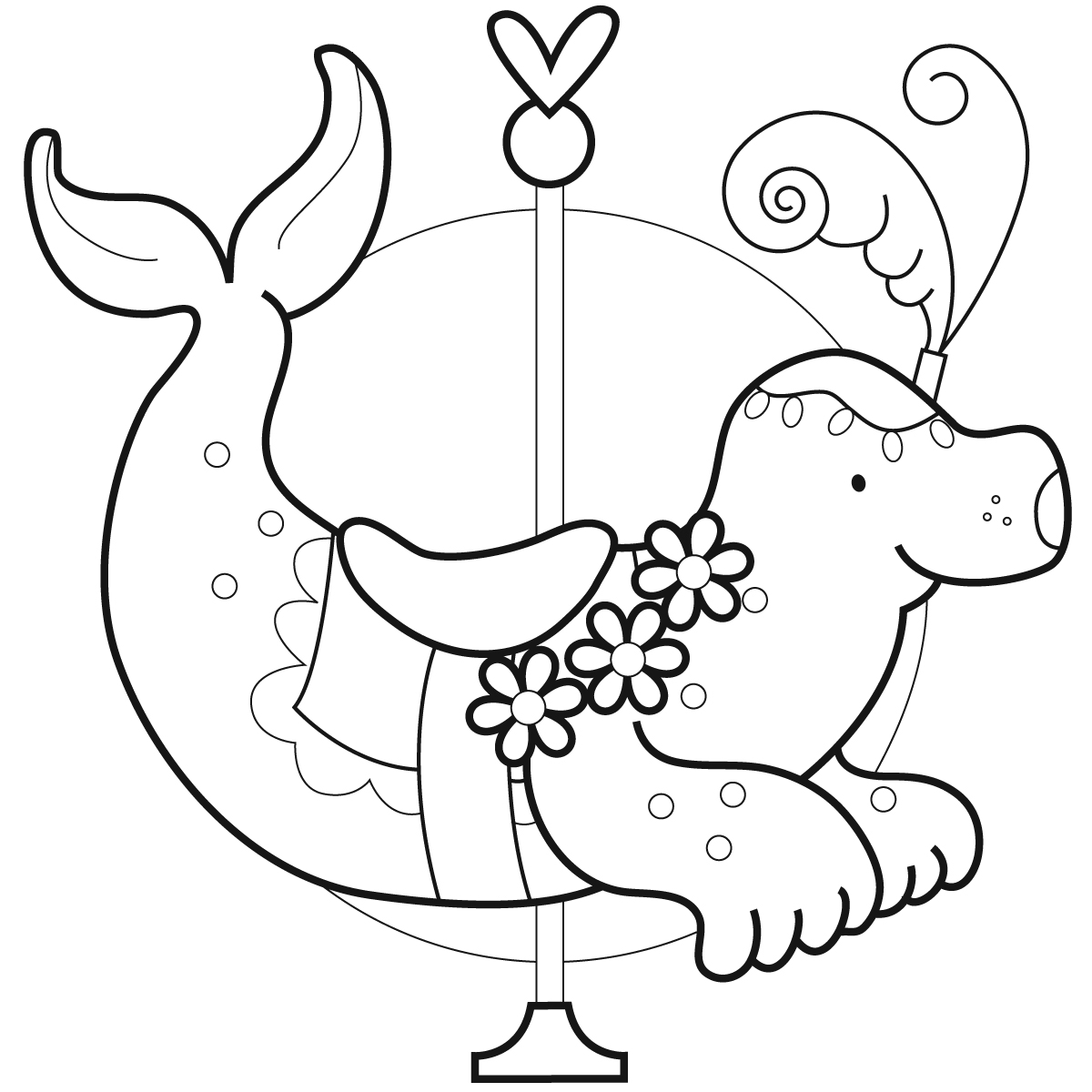 carasel coloring pages - photo#34