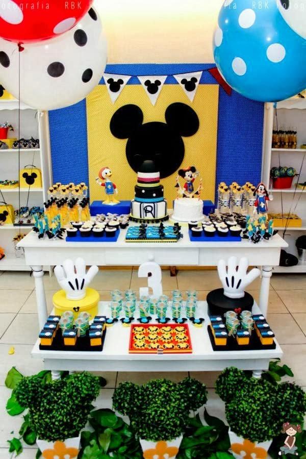 tema festa menino infantil aniversário mickey