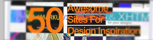 50 Awesome Sites for Design Inspiration