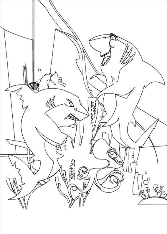 Shark tale povesti cu rechini imagini de colorat desene for Shark tale coloring pages