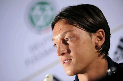 Mesut Ozil attending a press conference of Germany national team