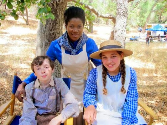 Photos of Stephanie Linus on set of new Hollywood Western Movie