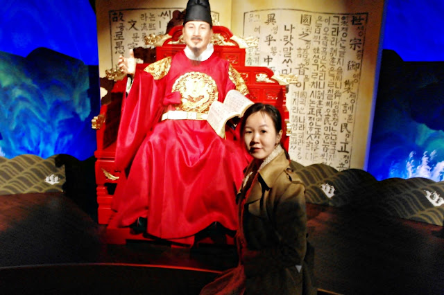 Inventor of Korean Hangul - King Sejong The Great (세종대왕) - Grevin Seoul | www.meheartseoul.blogspot.com