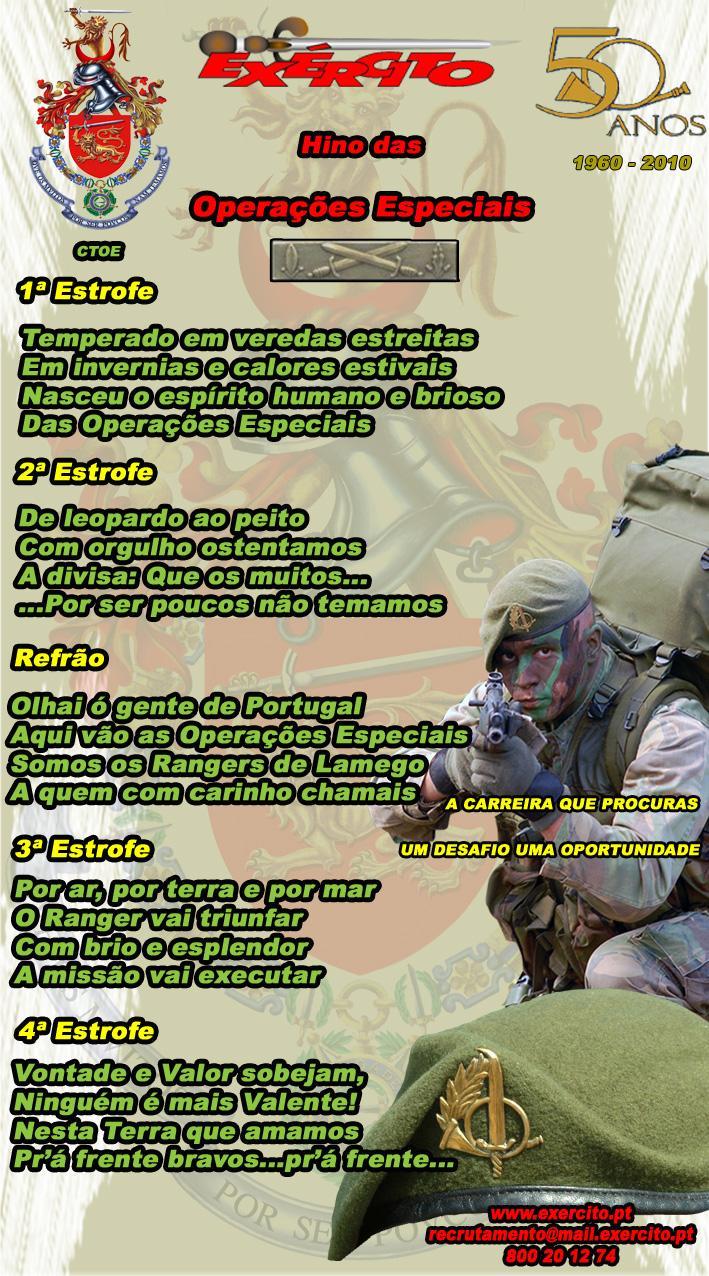 Letra do Hino das Operações Especiais