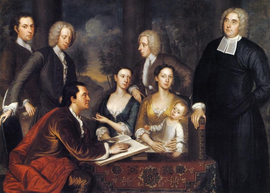 Art gallery paintings paintings of 18th century american families 1729 john smibert american colonial era artist 1688 1751 the bermuda group sciox Images
