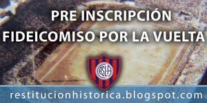 Inscribite al Fideicomiso de la Vuelta a Boedo y convertite en socio refundador