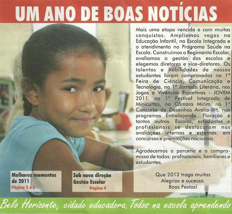 Criança protagonista de sua própria história se  destaca na capa do JORNAL FAMÍLIA-ESCOLA.