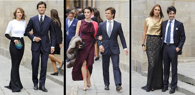 Modelos bicolores en la boda de Miguel Ángel Perera