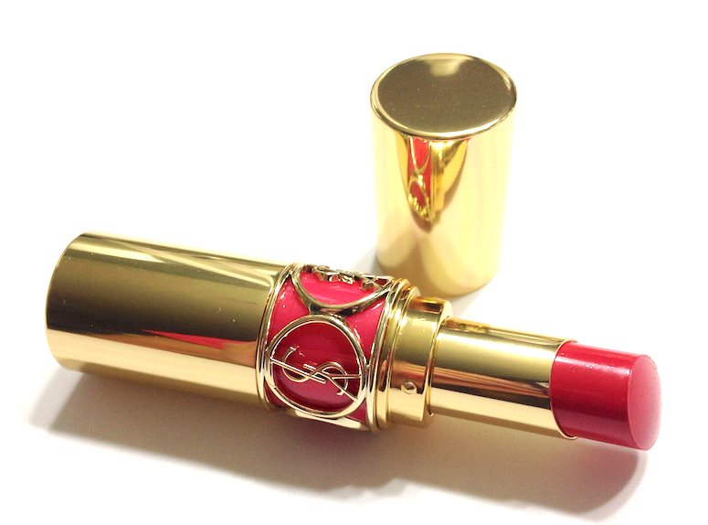 YSL Spring 2014 Flower Crush Collection - Rouge Volupté #34 Rose Asarine and Rouge Pur Couture Vernis à Lèvres Glossy Stain #33 Bourgogne Artistique