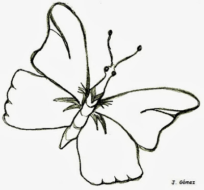 Mariposa para colorear pintar