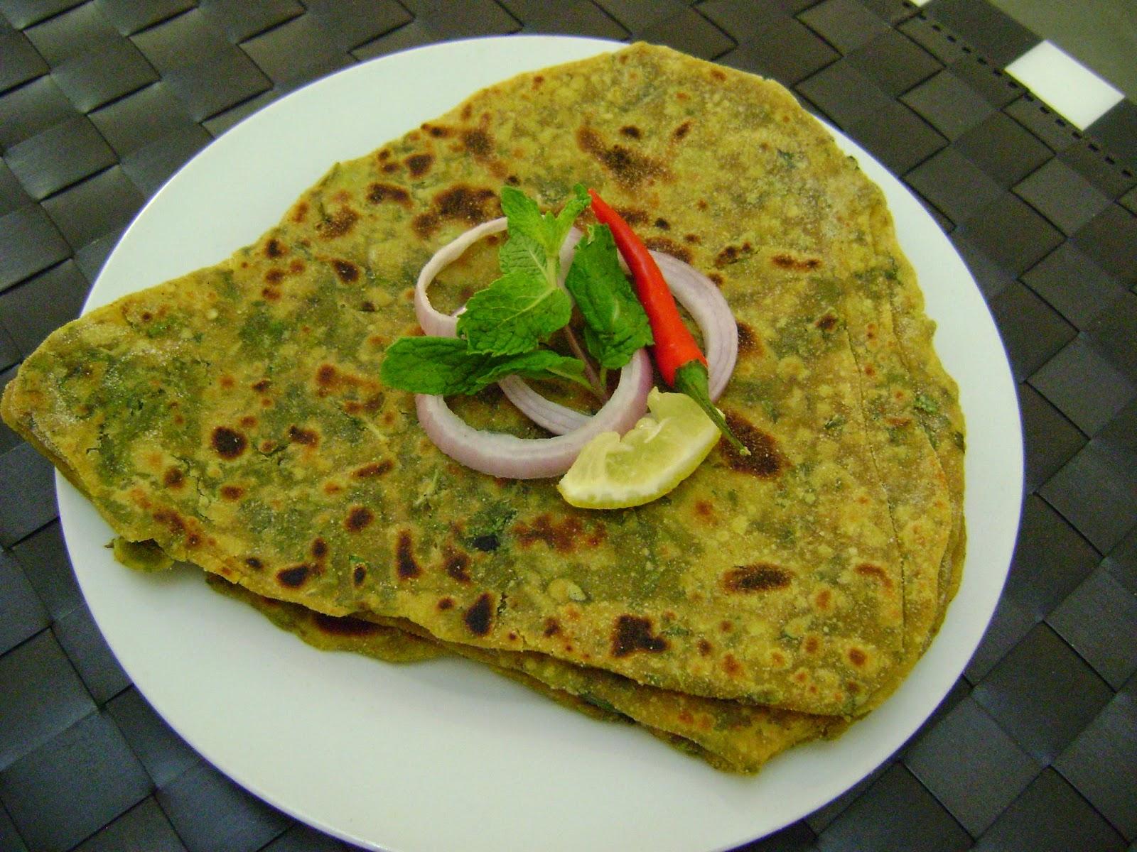 Bethica's Kitchen Flavours: Mint Paratha (Flat Bread)