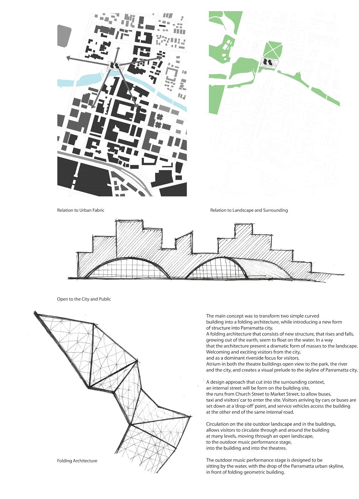 Basic Concept Of The Design Scheme 1 Folding Architecture