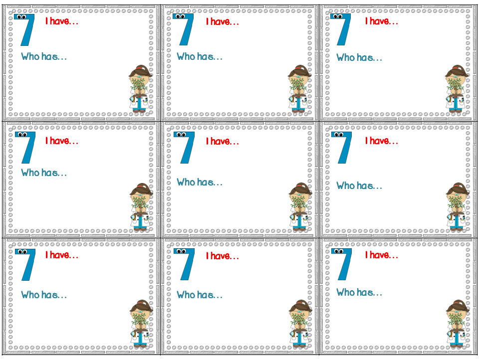 I Have Who Has Template | The Teacher S Desk 6 Monday Made It I Have Who Has How To