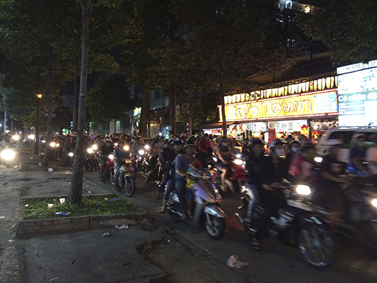 motorbikes in Ho Chi Minh
