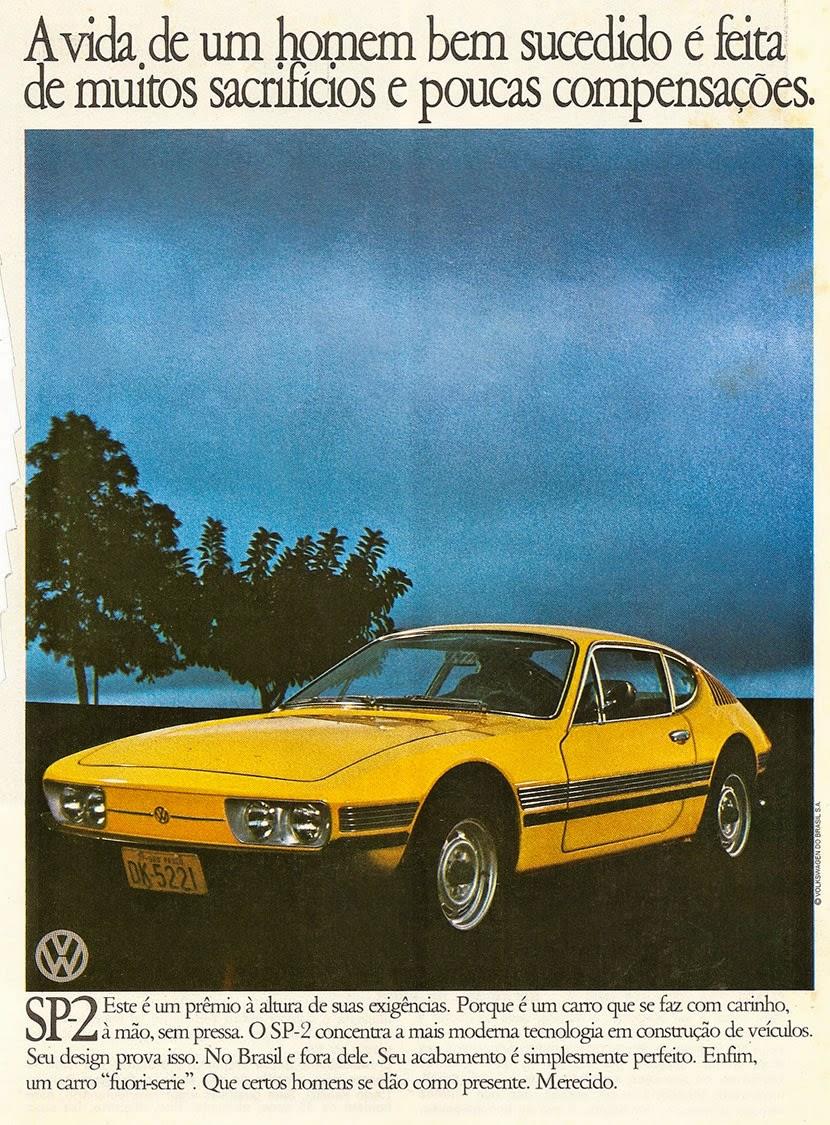 Propaganda do SP2, da Volkswagen em 1975: modelo de 1700cc.