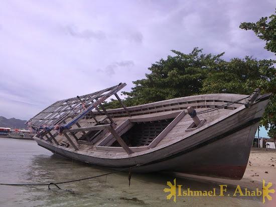 Wreck at Cowrie Island, Honda Bay