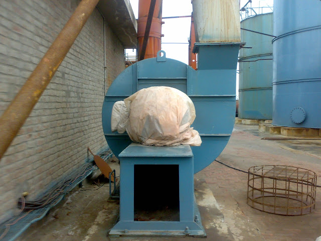 Sulfuric Acid Plant image of blower to suck the air or oxegen, backside view