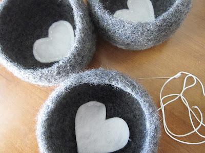 free crochet pattern felted bowls