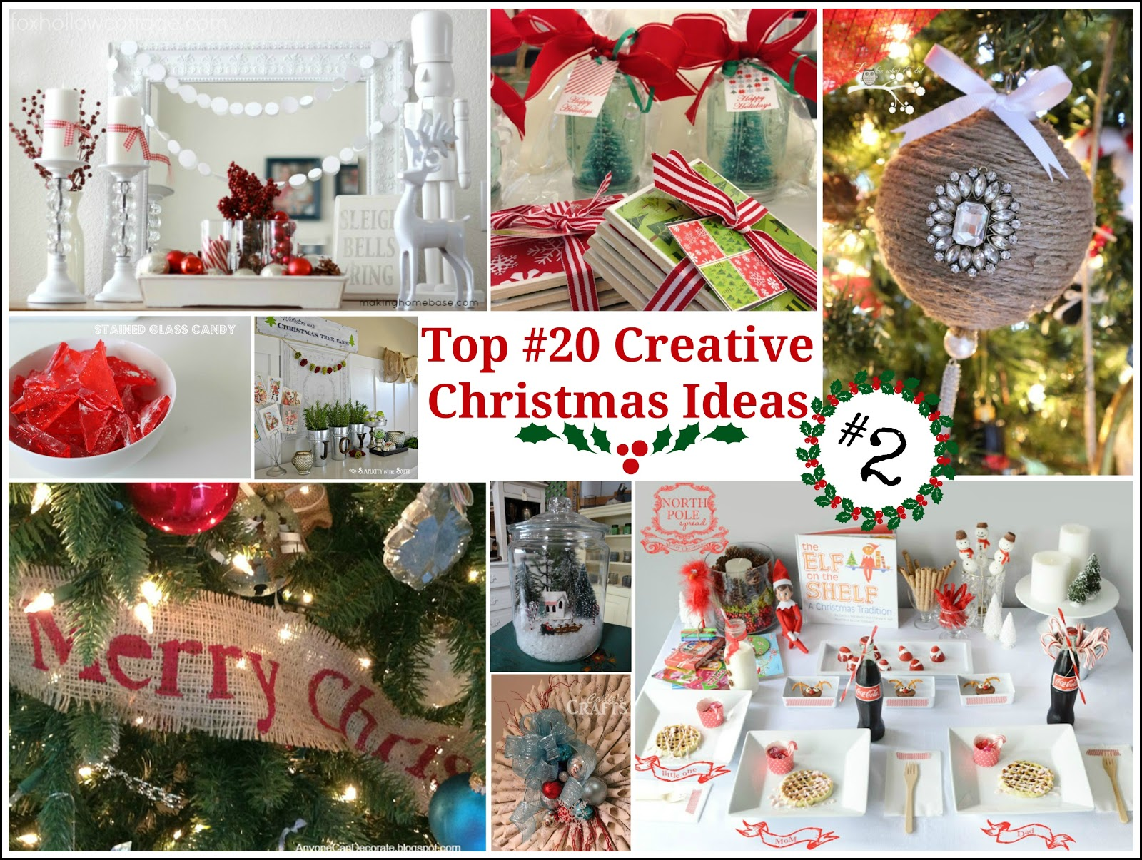 Top 20 creative christmas ideas ii fox hollow cottage for Pinterest christmas craft ideas