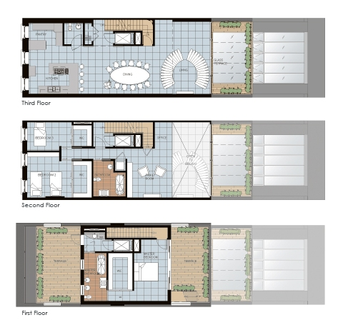 I should be laughing architecture wednesday gramercy for Small townhouse interior design