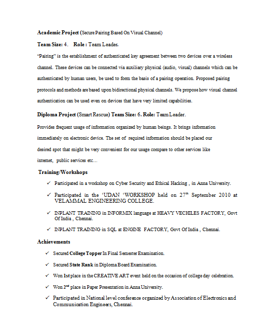 oracle certified professional resume