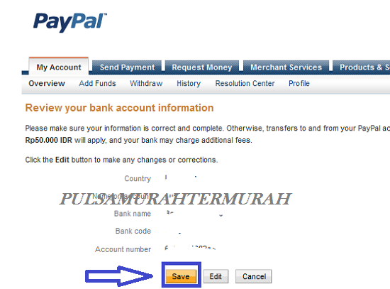 Cara Menambahkan Rekening Bank Payoneer Ke Paypal 7