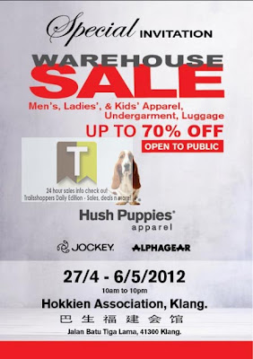 Hush Puppies Warehouse Sale Invitation